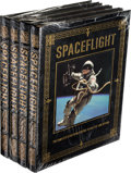 Explorers:Space Exploration, Buzz Aldrin Signed Leather-Bound Limited Edition Books (Four Copies, Still Sealed): Spaceflight, Originally from H... (Total: 4 )