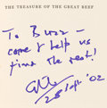 Explorers:Space Exploration, Arthur C. Clarke Book Signed and Inscribed to Buzz Aldrin: The Treasure of the Great Reef Originally from Buzz Ald...