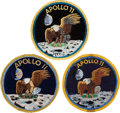 Explorers:Space Exploration, Apollo 11 Patch Collection: Crew Patch (Texas Art), AB Emblem, and Universal Commemorative, All Originally from the Person...