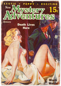 Pulps:Horror, New Mystery Adventures - January 1936 (Pierre Publications) Condition: GD....
