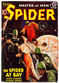 Pulps:Hero, The Spider - October 1938 (Popular) Condition: VG/FN....