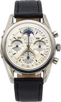 Timepieces:Wristwatch, Universal Geneve, Stainless Steel Tri-Compax, Ref: 222100-1, Circa 1960. ...