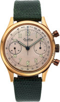 Timepieces:Wristwatch, Breitling, Ref. 790 Premier, 18k Rose Gold Chronograph, Circa 1950's. ...