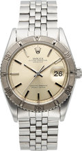 "Timepieces:Wristwatch, Rolex, Thunderbird Datejust, Ref. 1625, Turn-O-Graph Bezel and ""PiePan"" Dial, Stainless Steel and White Gold, Circa 1968..."