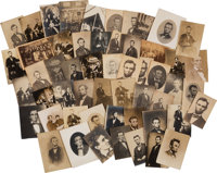 [Abraham Lincoln]. Group of Approximately 50 Unmounted Albumens and 2 Cartes de Visite of Li