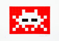 Collectible:Print, Invader (b. 1969). Invasion (Red), 2009. Embossed screenprint in colors on paper. 11-3/4 x 16-3/8 inches (29.8 x 41.6 cm...