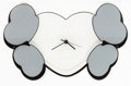 Collectible:Contemporary, KAWS (b. 1974). Hectic x Crossbone Wall Clock Edition 1, 2000. Screenprint on acrylic. 15 x 9-1/2 inches (38.1 x 24.1 cm...