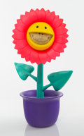 Collectible:Contemporary, Ron English X Made by Monsters. Sunflower Grin (Pink), 2017. Mixed media, steel reinforced, vinyl. 16 x 10-1/4 x 8-1/4 i...