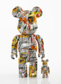 Collectible:Contemporary, BE@RBRICK X The Estate of Jean-Michel Basquiat. Jean-Michel Basquiat 100% and 400% (two works), 2017. Painted cast vinyl...