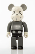Collectible:Contemporary, KAWS X BE@RBRICK. Companion 400% (Grey), 2002. Painted cast vinyl. 10-3/4 x 5 x 3-1/2 inches (27.3 x 12.7 x 8.9 cm). Sta...