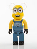 Collectible:Contemporary, BE@RBRICK X Illumination. Dave 400%, from Despicable Me 3, 2018. Painted cast resin. 10-3/4 x 5 x 3-1/2 inches (27.3...