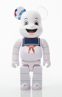 BE@RBRICK X Columbia Pictures Stay Puft Marshmellow Man 400%, from Ghostbusters, 2017 Painted cast resin 10-3/4 x