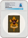 Explorers:Space Exploration, Boy Scouts: Be Prepared Patch Directly From The Armstrong Family Collection™, CAG Certified....