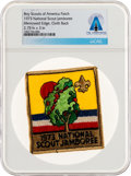 Explorers:Space Exploration, Boy Scouts: 1973 National Scout Jamboree Patch Directly From The Armstrong Family Collection™, CAG Certified....