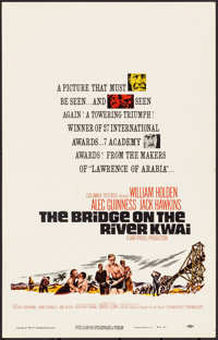 "The Bridge on the River Kwai & Other Lot (Columbia, R-1963). Folded, Fine/Very Fine. Window Cards (3) (14"" X 22..."