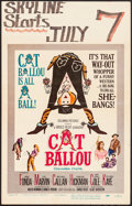 "Movie Posters:Comedy, Cat Ballou (Columbia, 1965). Folded, Fine/Very Fine. Window Card (14"" X 22""). Comedy.. ..."