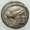 Ancients:Ancient Lots  , Ancients: ANCIENT LOTS. Roman Republican. Ca. 119-48 BC. Lot of two(2) AR denarii. About VF, bankers mark-Choice VF.... (Total: 2coins)