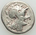 Ancients:Ancient Lots , Ancients: ANCIENT LOTS. Roman Republican. Ca. 134-55 BC. Lot of two(2) AR denarii. Fine, bankers marks.... (Total: 2 coins)