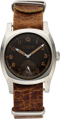 Timepieces:Wristwatch, Eterna, Rare Czech WWII Military Pilot's Watch, Never Commissioned,Stainless Steel, Manual Wind, Circa 1930s. ...