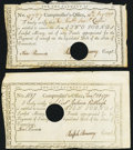 Colonial Notes:Connecticut, Connecticut Interest Certificates Two Examples. . ... (Total: 2 notes)