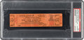 """Football Collectibles:Tickets, 1958 NFL Championship Game Giants vs. Colts """"Greatest Game Ever Played"""" Full Ticket, PSA Authentic. ..."""