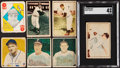 Baseball Cards:Lots, 1948-52 Topps, Bowman and Berk Ross Collection (63). ...