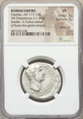 Ancients:Roman Imperial, Ancients: Hadrian (AD 117-138). AR cistophorus (28mm, 11.07 gm,6h). NGC VF 3/5 - 3/5, overstruck....