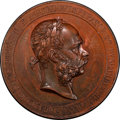 """Austria, Austria: Franz Joseph I bronze Specimen """"Honorary Prize of theMinistry of Commerce"""" Medal ND (Late 19th Century) SP55 BrownPCGS,..."""