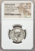 Ancients:Roman Imperial, Ancients: Trajan (AD 98-117). AR cistophorus (26mm, 10.14 gm, 6h).NGC VF 5/5 - 4/5, flan flaw....