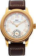 Timepieces:Wristwatch, IWC, 18k Rose Gold Pilot, Vintage Collection, Ref. IW325403, Circa2008. ...