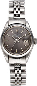 Timepieces:Wristwatch, Rolex, Lady's Steel Oyster Ref 6916, Perpetual Date, Circa 1970. ...