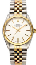 Timepieces:Wristwatch, Rolex, Ref. 1002 Gent's Two Tone Oyster Perpetual Datejust, Circa 1960's. ...