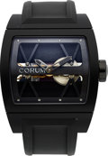 Timepieces:Wristwatch, Corum, Black Titanium Ti-Bridge, Ltd Ed. 140/250, Ref. 05.0040,Circa 2010. ...