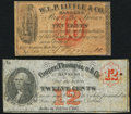 Obsoletes By State:Michigan, Michigan December 1, 1862 Scrip Two Different Issuers.. ... (Total: 2 notes)