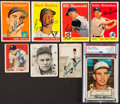Autographs:Sports Cards, 1936-58 Baseball Signed Card Collection (8)....