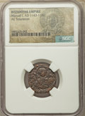Ancients:Ancient Lots  , Ancients: ANCIENT LOTS. Byzantine Empire. Ca. AD 527-1180. Lot oftwo (2) AE issues. NGC certified.... (Total: 2 coins)