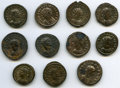 Ancients:Ancient Lots  , Ancients: ANCIENT LOTS. Roman Empire. Ca. AD 270-337. Lot of eleven(11) BI antoniniani and nummus. XF-XF, Silvering.... (Total: 11coins)