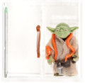 Memorabilia:Science Fiction, Star Wars - Yoda Loose Action Figure/ HK Orange Snake/Light Green (Kenner, 1980) AFA U85 NM+....