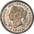 """Canada, Canada: Victoria """"Large 5"""" 5 Cents 1885 MS64 PCGS,..."""