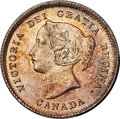 """Canada: Victoria """"Large Date"""" 5 Cents 1900 MS65 PCGS"""