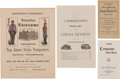 Political:Small Paper (pre-1896), James A. Garfield et al: Campaign Equipment Advertisements and Price Lists....