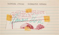Basketball Collectibles:Others, 1950's Maurice Stokes Signed Cut Signature....