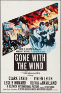 "Movie Posters:Academy Award Winners, Gone with the Wind (MGM, R-1954). Folded, Fine/Very Fine. One Sheet (27"" X 41""). Academy Award Winners.. ..."