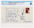 """Explorers:Space Exploration, Project Mercury: """"Honoring Project Mercury Astronauts"""" First Day Cover in Facsimile Signed by the Mercury Astronauts Directly ..."""