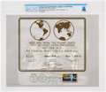 Explorers:Space Exploration, Apollo 11: Lunar Plaque First Day Cancelled Publication Directly From The Armstrong Family Collection™, CAG Certified....
