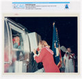 """Explorers:Space Exploration, Apollo 11: Original NASA """"Red Number"""" Buzz Aldrin Talking on the Telephone in Quarantine Trailer With His Wife Color Photo Dir..."""