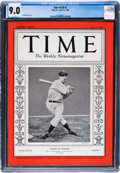 Baseball Collectibles:Others, 1936 Joe DiMaggio TIME Magazine CGC 9.0--Five Higher....