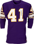 Football Collectibles:Uniforms, 1960's Dave Osborn Game Worn & Signed Minnesota Vikings Jersey....