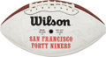 Autographs:Footballs, 1994 San Francisco 49ers Team Signed Football from The Eric Davis Collection....