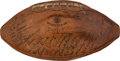 Football Collectibles:Balls, 1939 Green Bay Packers Team Signed Football--Finest Known!...